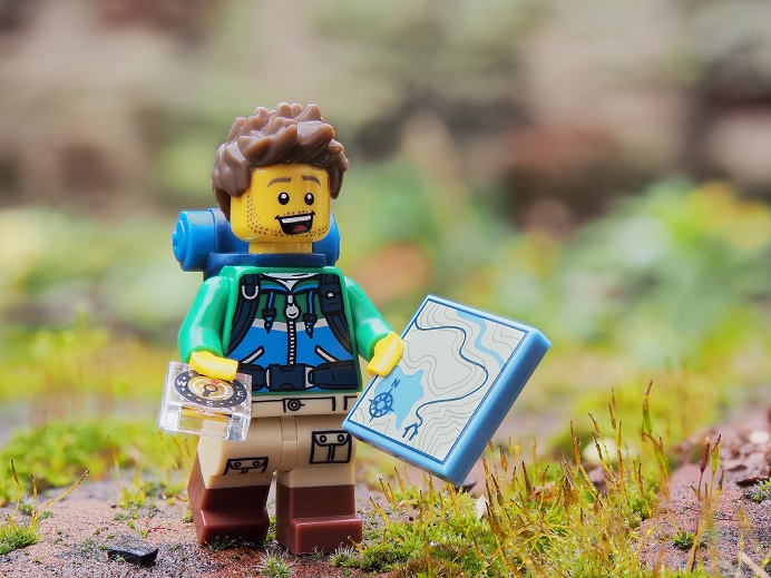 Hiker Lego Miniature Outdoors